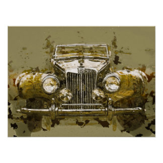 Vintages Magnesium-Sport-Auto Poster