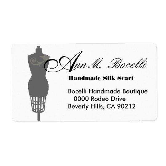 Vintages Mannequin-Kleiderform-Geschäft besonders Großer Adressaufkleber