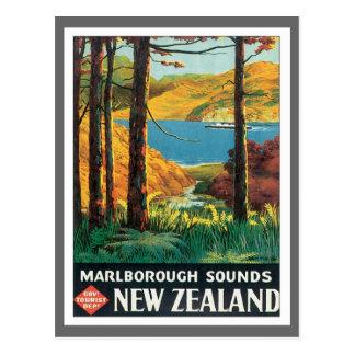 Vintages Marlborough klingt Neuseeland Postkarten