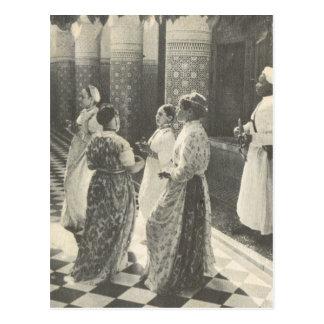Vintages Marrakesch, Maroc, Damen Postkarte