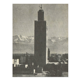 Vintages Marrakesch, Maroc, La Koutoubia Postkarte