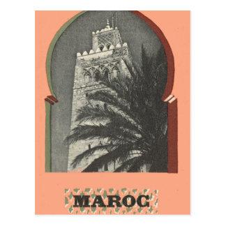Vintages Marrakesch, Maroc, Postkarte