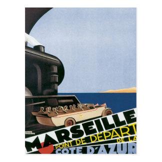 Vintages Marseille Cote d'Azur Postkarte