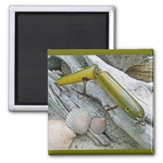 Vintages Masterlure verband Aal-Salzwasser-Stecker Quadratischer Magnet