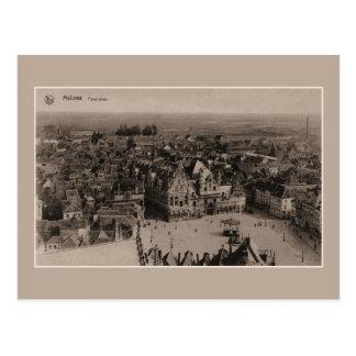 Vintages Mechelen Panorama Postkarte