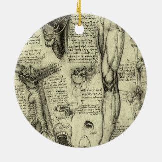 Vintages menschliches Anatomie-Kehlkopf-Bein Keramik Ornament
