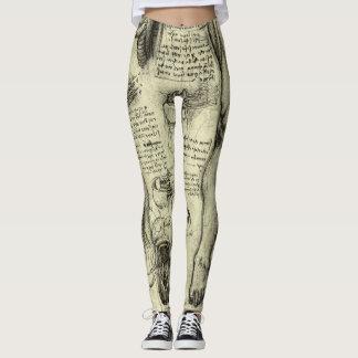 Vintages menschliches Anatomie-Kehlkopf-Bein Leggings