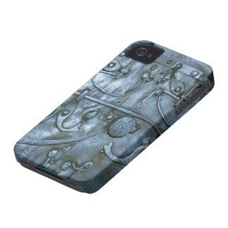 Vintages Metallrüstungs-Druck-BlackBerry mutig iPhone 4 Case-Mate Hülle