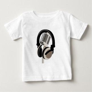 Vintages Mikrofon mit Kopfhörern Baby T-shirt