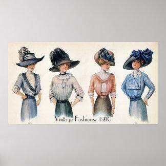 Vintages Mode-Plakat Poster
