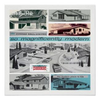 Vintages modernes Mosaik! Poster