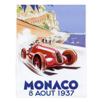 Vintages Monaco - Postkarte