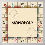Vintages Monopol-Spiel-Brett Posterdrucke