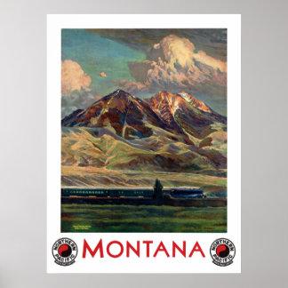 Vintages Montana-Reise-Plakat Poster