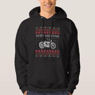 Vintages Motorrad-hässliche Weihnachtsstrickjacke Hoodie