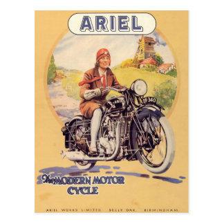 Vintages Motorrad-Plakat