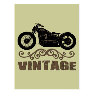 Vintages Motorrad Postkarte