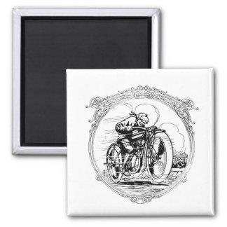 Vintages Motorrad Quadratischer Magnet