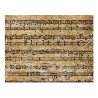 Vintages Musik-Blatt Postkarte