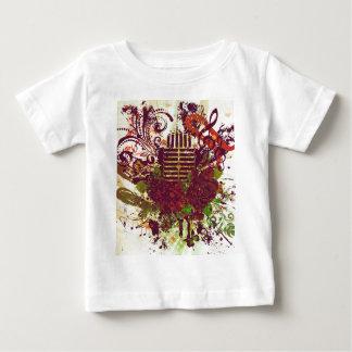 Vintages Musik-Mikrofon Baby T-shirt