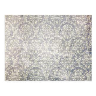 Vintages Muster - Bild 10 (Schwarzes u. Weiß) Postkarte