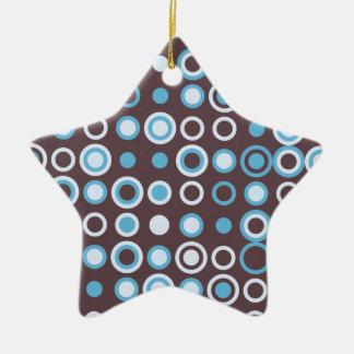 Vintages Muster des Kreises Keramik Stern-Ornament