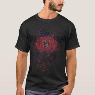 Vintages Muster mit Monogramm-Buchstaben H T-Shirt