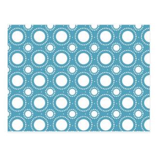 Vintages nahtloses Polka-Punkt-Muster Postkarte