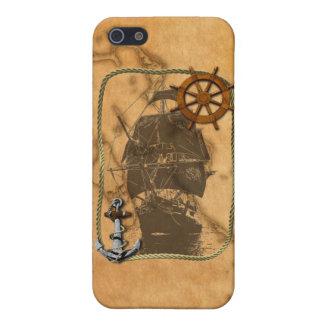 Vintages nautischschiff und Karte iPhone 5 Schutzhülle