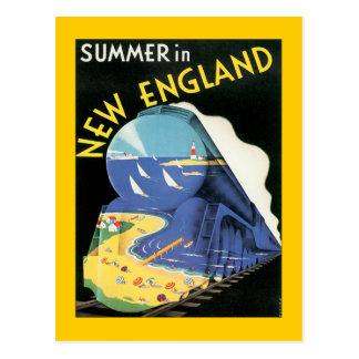 Vintages Neu-England Postkarte