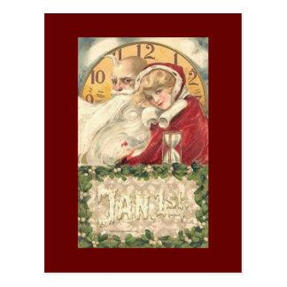 Vintages neues Jahr Postkarte