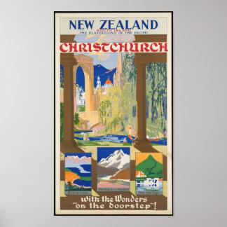 Vintages Neuseeland-Reise-Plakat Poster