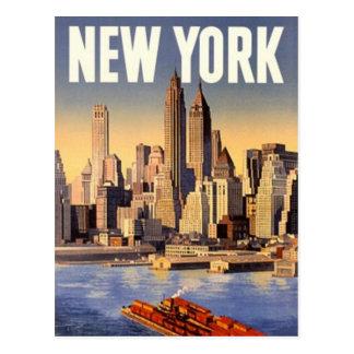 Vintages New York City, USA - Postkarte