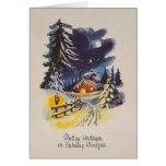 Vintages niederländisches Weihnachts-und neues Karte