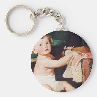 Vintages niedliches Kind, Schlüsselanhänger
