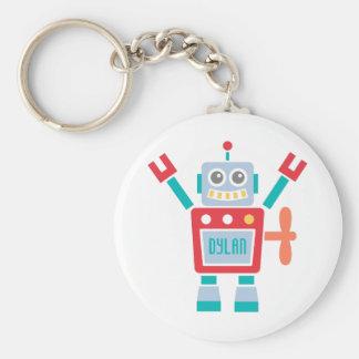 Vintages niedliches Roboter-Spielzeug für Kinder Standard Runder Schlüsselanhänger