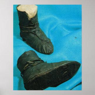 Vintages Norwegen, echte Wikinger-Stiefel Poster