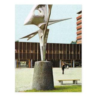 Vintages Norwegen, Oslo, Skulptur an der neuen Postkarte