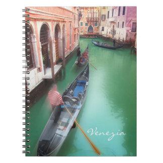 Vintages Notizbuch Venedigs Notizblock
