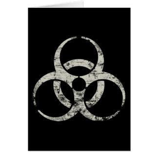 Vintages nukleares Symbol Karte