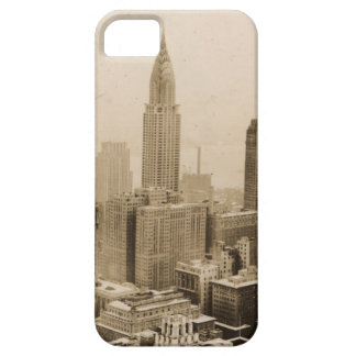 Vintages NYC mit Reich-Staats-Gebäude iPhone 5 Schutzhüllen