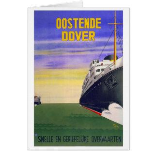 Vintages Oostende Dover Karte