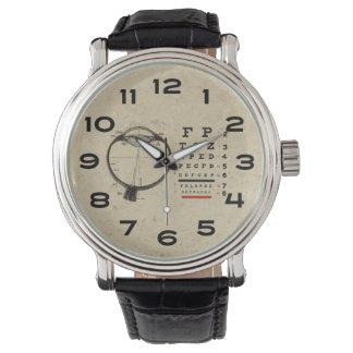 Vintages Ophthalmologist-Augen-Diagramm Uhren