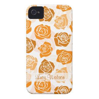 Vintages orange Rosen BlackBerry-mutiger Kasten iPhone 4 Hülle