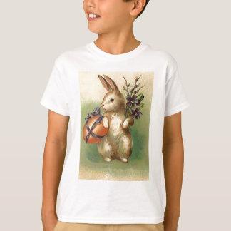 Vintages Osterhasen-Osterei-Blumen-Ostern-Auto T-Shirt