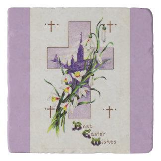 Vintages Ostern-Kreuz Töpfeuntersetzer