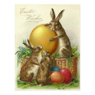 Vintages Ostern wünscht 1906 Postkarte