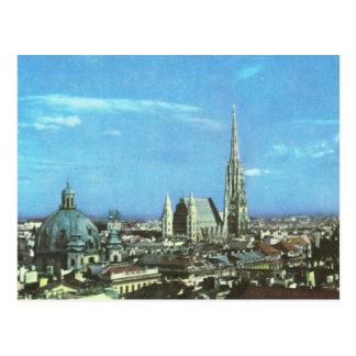 Vintages Österreich Wien, Kathedrale von St Stephe Postkarte