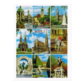 Vintages Österreich, Wien, Wien, Multiview Postkarte