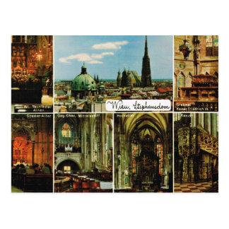 Vintages Österreich, Wien, Wien, StephansDom Postkarte